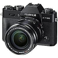 Fujifilm X-T20 Mirrorless Digital Camera, Black with Fujinon XF18-55mm F2.8-4 R LM Optical Image Stabiliser Lens Kit