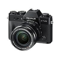 """Fujifilm X-T20 Fotocamera Digitale 24MP con Obiettivo XF18-55mm F2.8-4 R LM OIS, Sensore CMOS X-Trans III APS-C, Schermo LCD Touchscreen 3"""" Orientabile, Filmati 4K, Nero"""