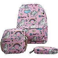 LOL/Unicorn Teens Backpack Set Canvas Girls School Bags, Bookbags