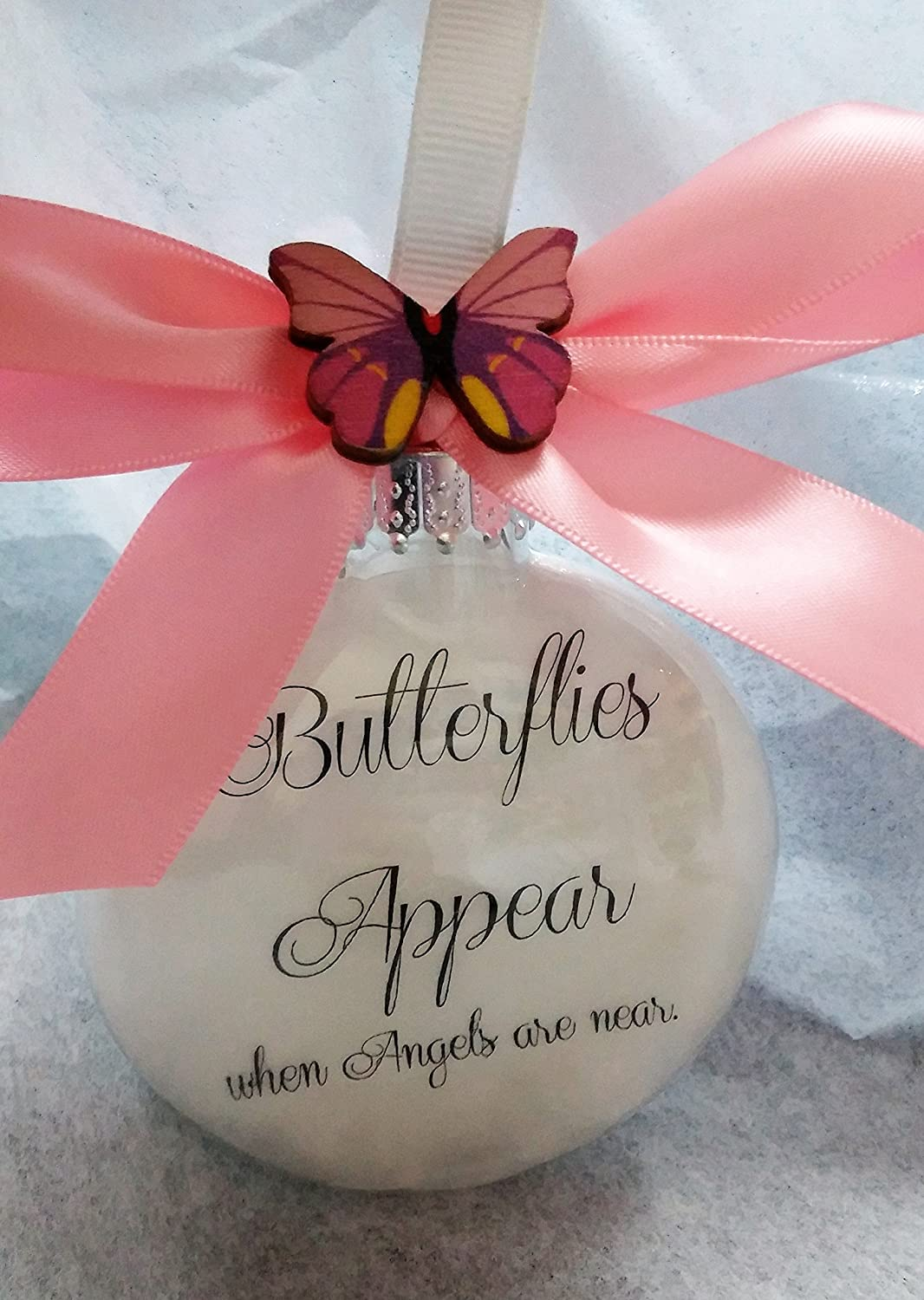 Amazon.com: Butterflies Appear when Angels are Near Memorial ...