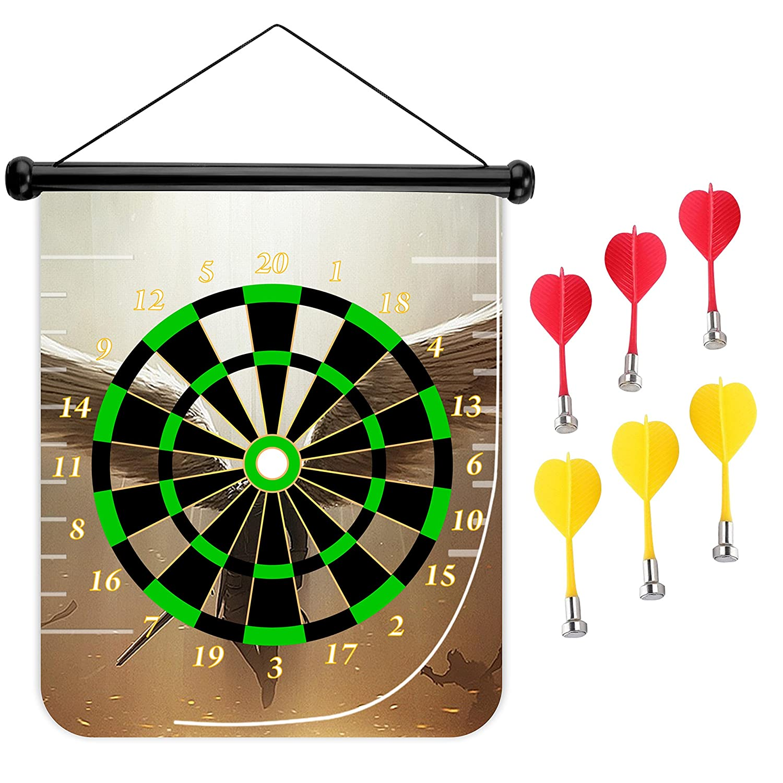 15インチMagnetic Dart Board Double Sided Hanging Dart Board Set and Bullseyeゲーム。Angel B079L71PHV