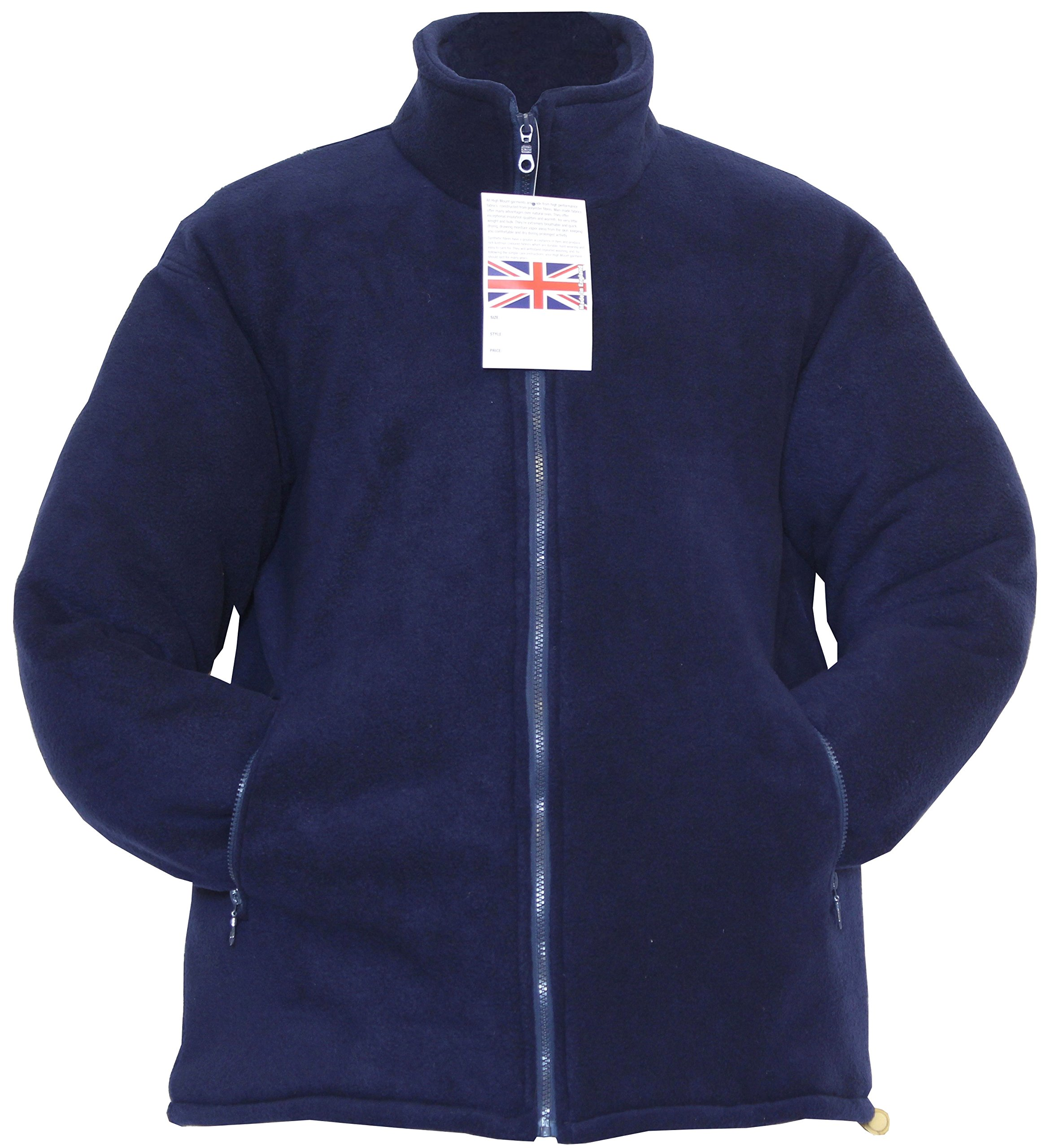 Champion New Mens Thick Warm Padded Anti Pill Fleece Jacket Quilted Coat Full Zip Zipped Pockets Inside Pocket Adjustable Drawcord at Hem Premium Quality Walking Outdoors Countrywear Glen Navy