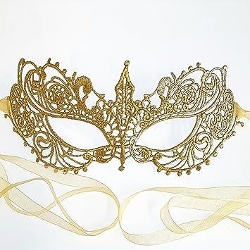 Samantha Peach Antifaz máscara de Carnaval Veneciana cordón Oro De Las Mujeres - Diosa