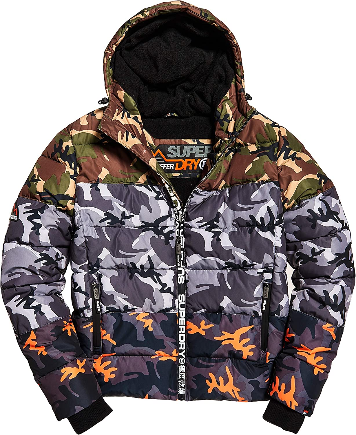 Superdry Mens Mix Sports Puffer