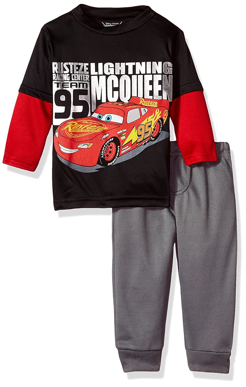 Disney Boys' Cars 2 Piece Long Sleeve T Shirt and Pant Set