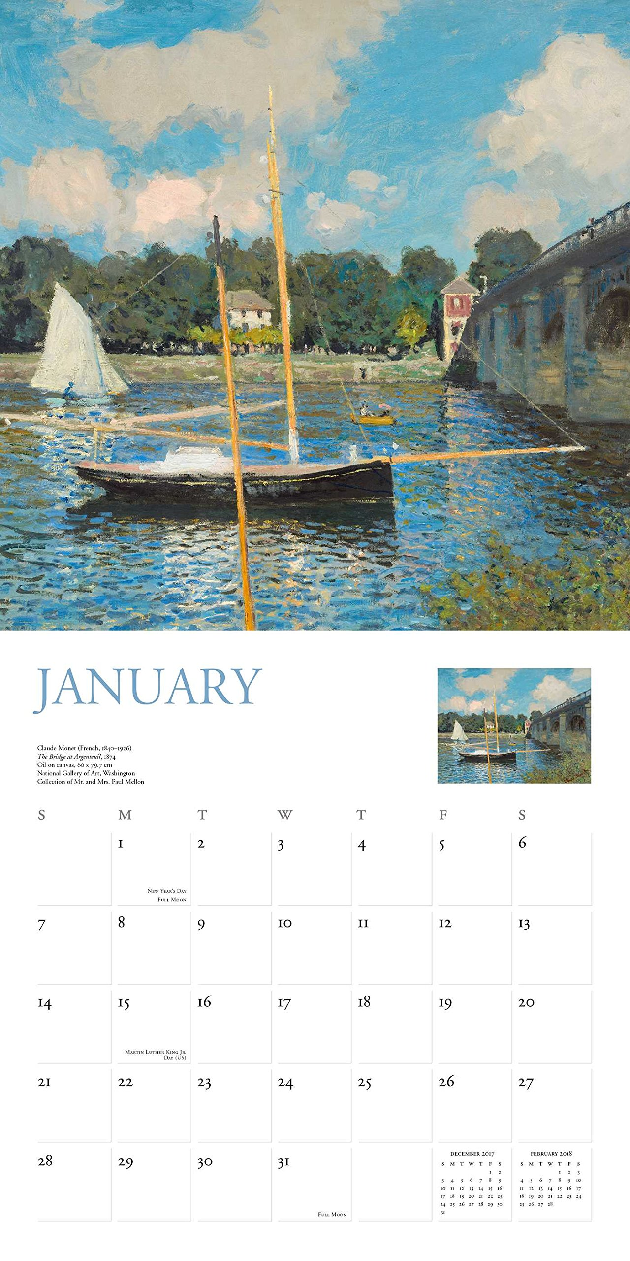 Monet 2018 Wall Calendar: National Gallery Of Art Washington D.C.:  0676728033400: Amazon.com: Books