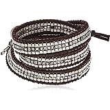 Lucky Brand Silver Beaded Wrap Bracelet
