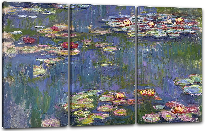 120x80cm Seerosen Printed Paintings Leinwand : Claude Monet