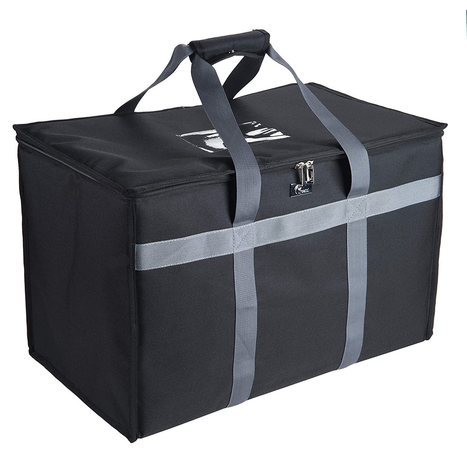Pursetti Insulated Food Delivery Bag-Made from Premium Commercial Grade Materials to Fit 4 Full-Sized Chafing Steam Table Pans to Keep Food Hot or Cold