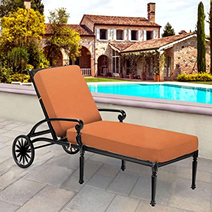 Superieur Thomas Collection Outdoor Cushions, Tangerine Orange Patio Cushions, One Large  Outdoor Chaise Seat U0026