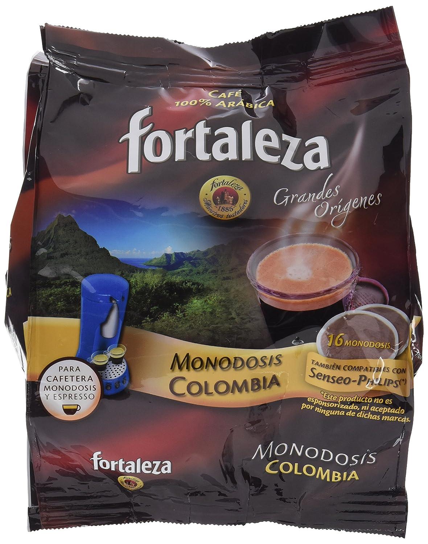 Café Fortaleza Café Colombia - 16 monodosis - [Pack de 5]: Amazon ...