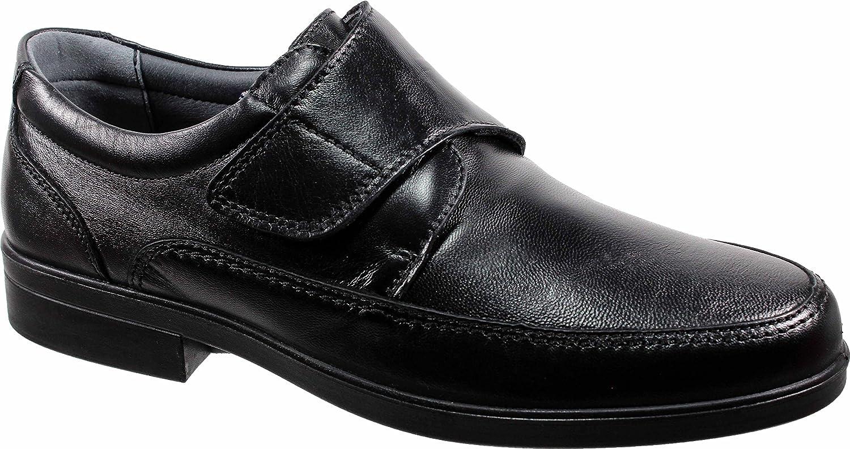 LUISETTI 26854 Negro - Zapato Velcro Piel Profesional Fabricado en España: Amazon.es: Zapatos y complementos