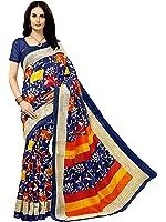 Glory Sarees Women's Bhagalpuri Saree(gloryart8_blue)
