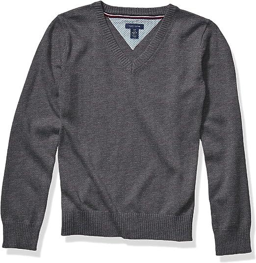 Tommy Hilfiger Girls V-Neck Pullover Sweater