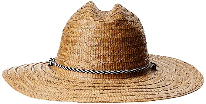 a45ee207a250a San Diego Hat Company Men s Kwai Braided Straw Lifeguard Hat at Amazon Men s  Clothing store
