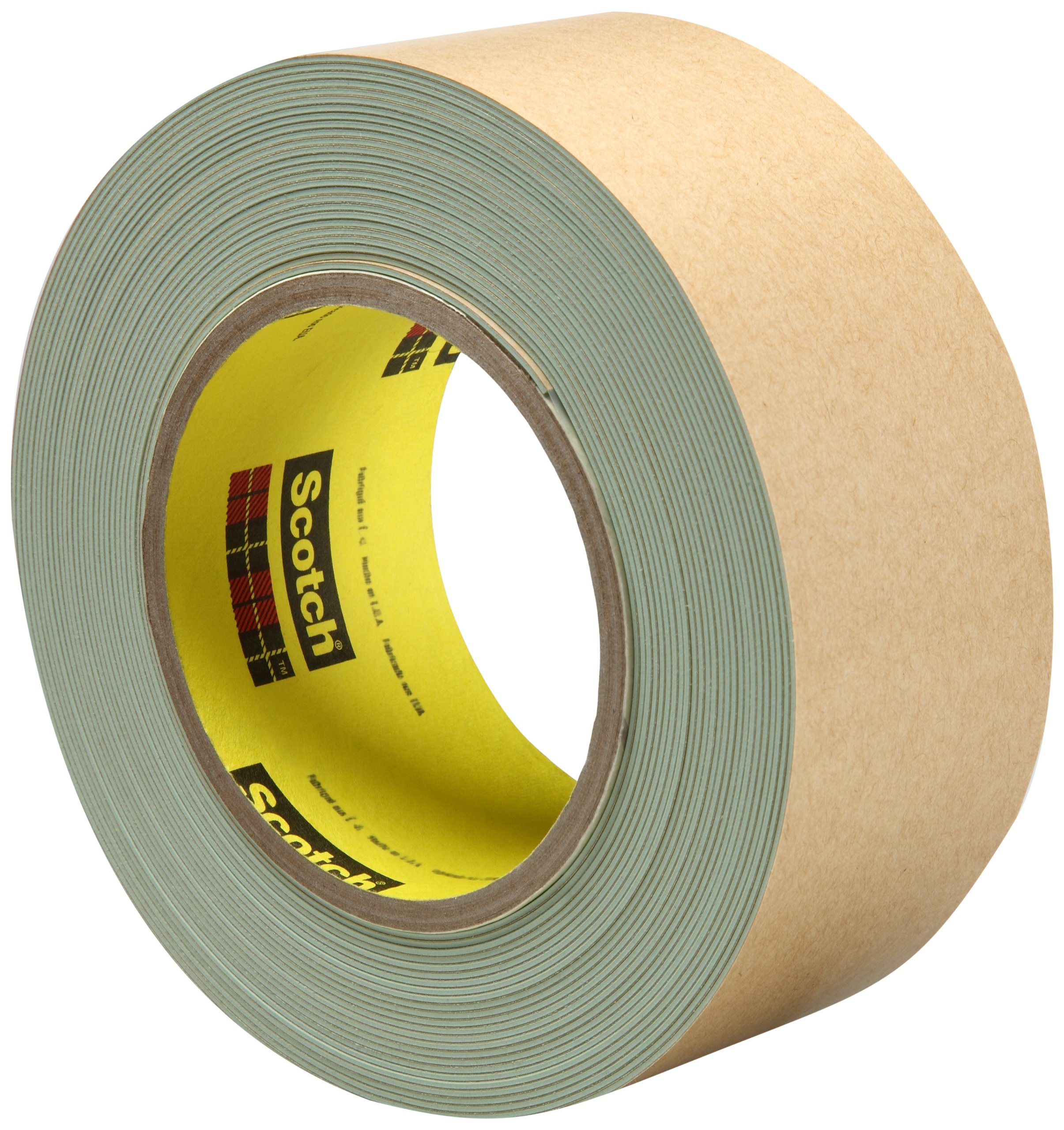 3M Impact Stripping Tape 500, 2'' x 10 yd 33 mil, Green (Pack of 6)