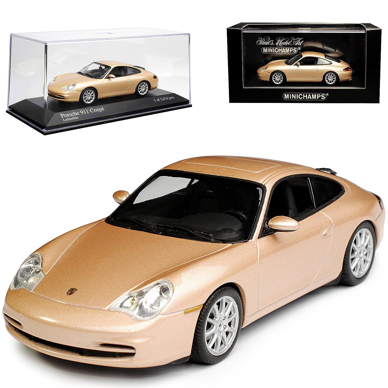 Minichamps Porsche 911 996 Coupe Lachs Silber 1997-2006 1/43 Modell Auto mit individiuellem Wunschkennzeichen