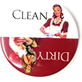 Clean Dirty Dishwasher Magnet. Adheres to ANY Surface! Eliminates Frustrating Dishwasher Mistakes. 100% Handmade in the USA.