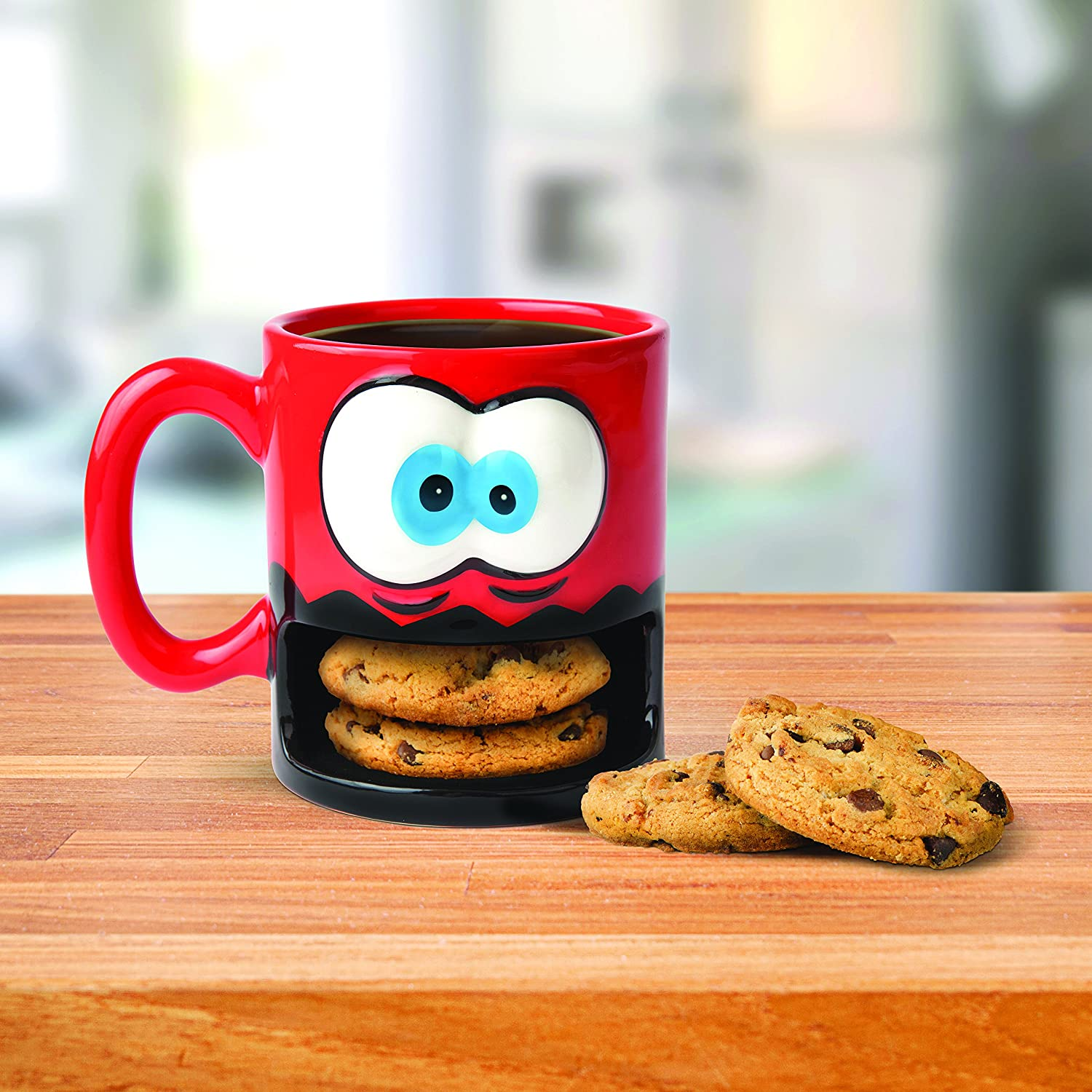 Cookie Coffee Cups Amazoncom Bigmouth Inc Crazy For Cookies Coffee Mug Kitchen