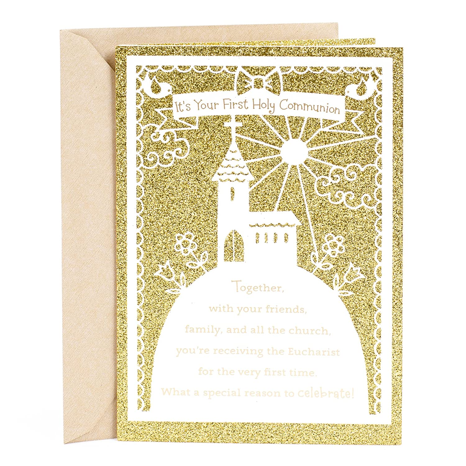 Amazon Dayspring Holy Communion Greeting Card Its Your First