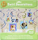 """Amscan Adorable Party Pups Swirls Decorations Value Kit, Multicolor, 24"""""""