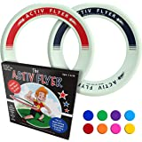 Activ Life Kid's Flying Rings [2 Pack] Fly Straight & Don't Hurt - 80% Lighter Than Standard Flying Discs - Replace…