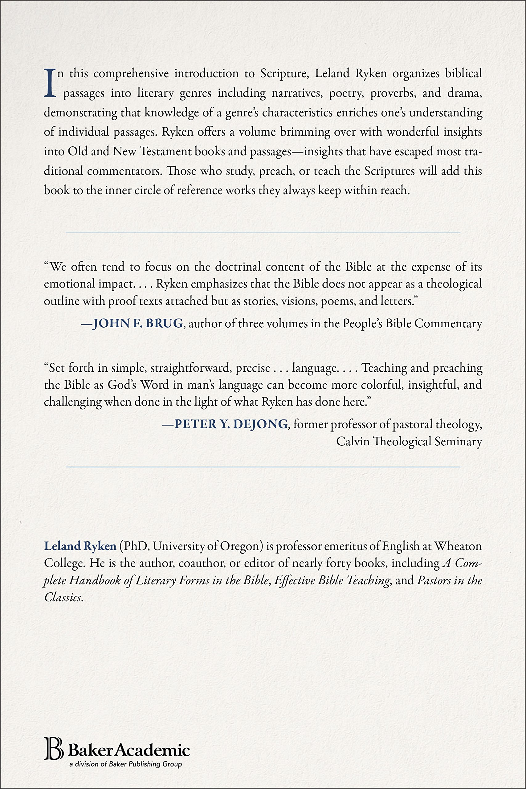 Words of Delight: A Literary Introduction to the Bible: Leland ...