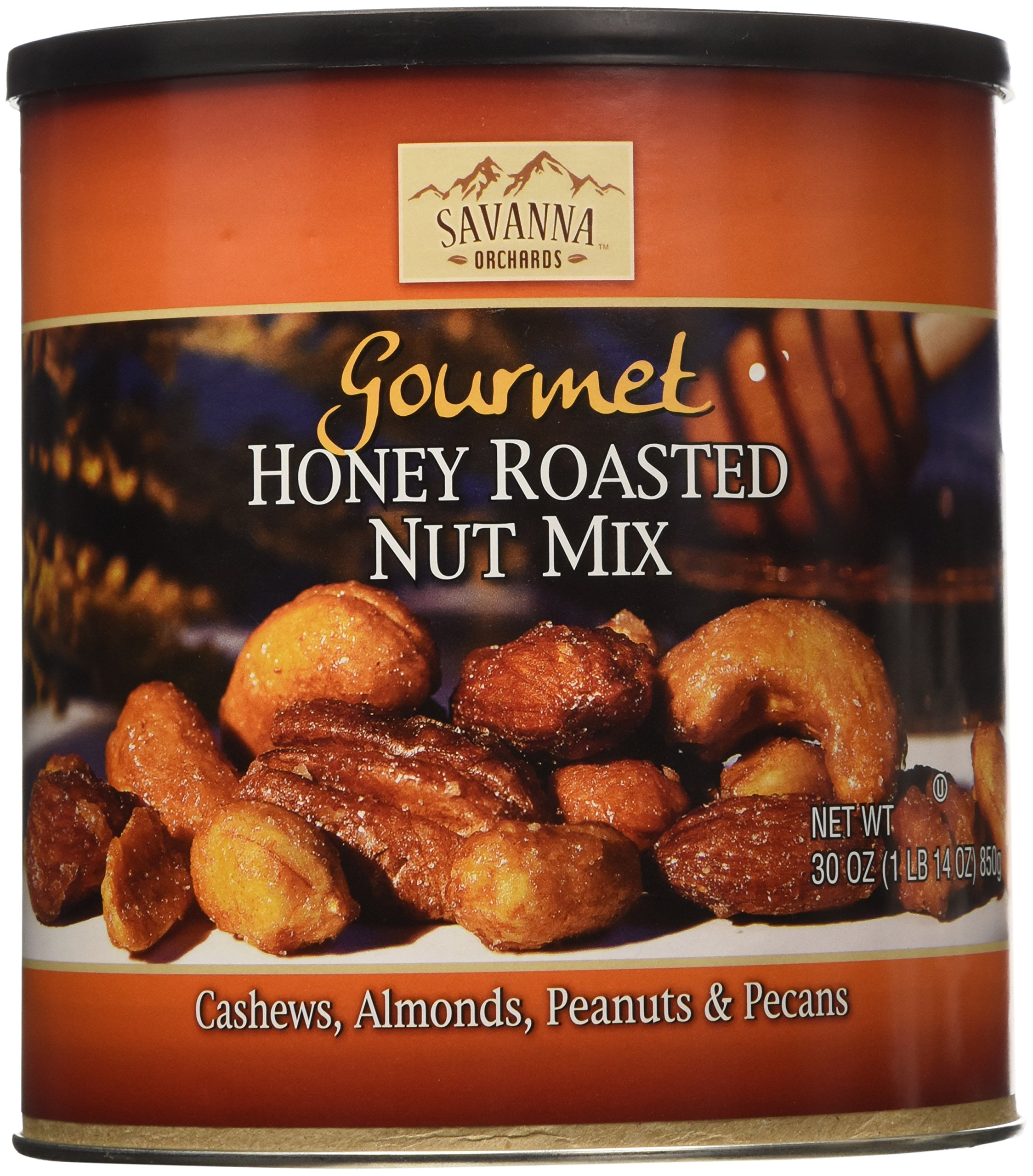 Savanna Orchards Gourmet Honey Roasted Nut Mix, 30 Ounce by Savanna Orchards