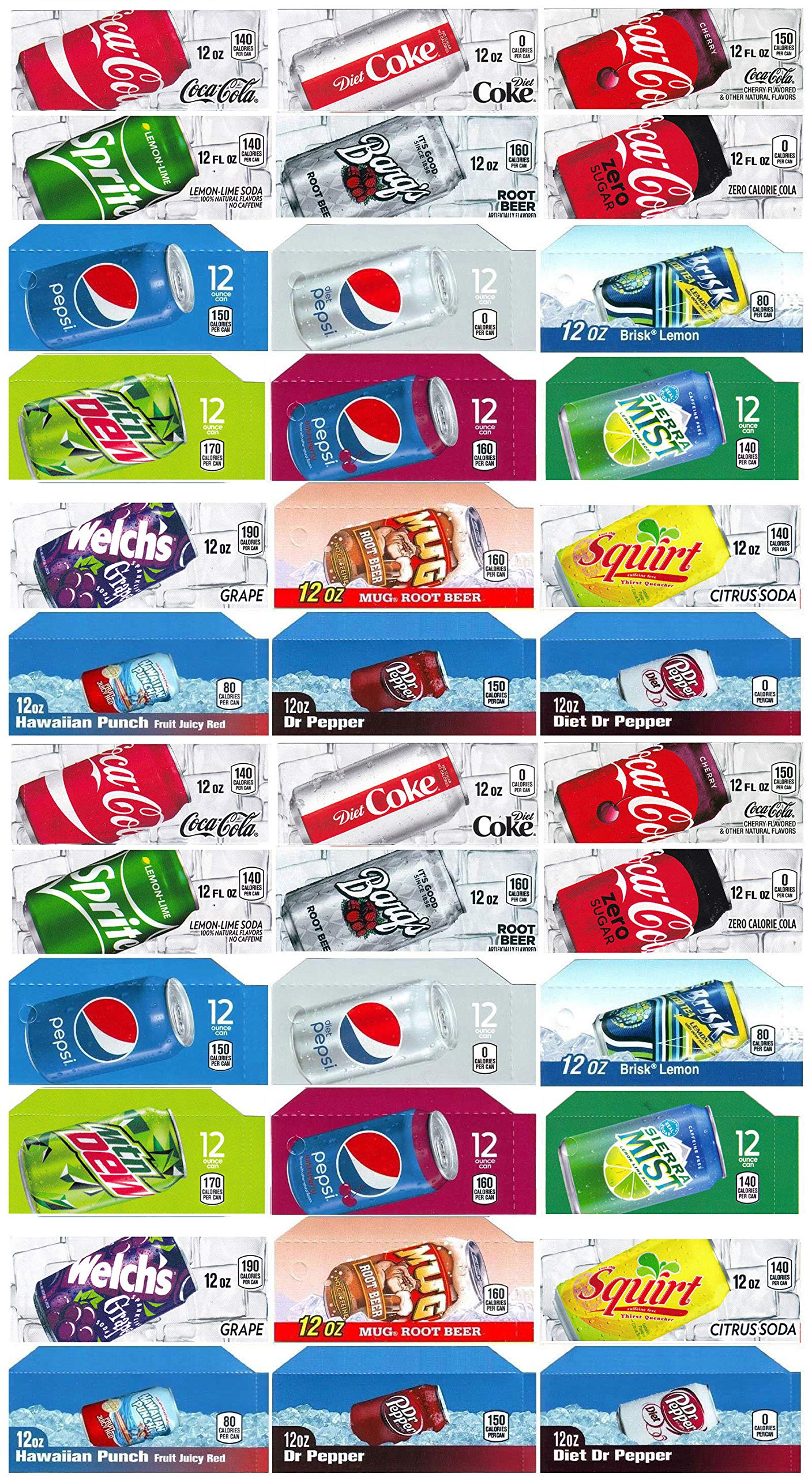 Vending-World - 36x Flavor Strip for 12 oz Cans Soda Pepsi Coke Vending, fits Dixie Narco, Vendo by Vending-World