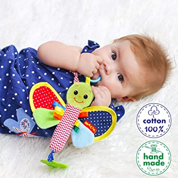 833c8163a Amazon.com   Baby Newborn Butterfly Toy - Newborn Toys - Rattle Toys ...