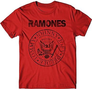 LaMAGLIERIA Camiseta Hombre Ramones Grunge Black Print - Camiseta 100% algodòn: Amazon.es: Ropa y accesorios