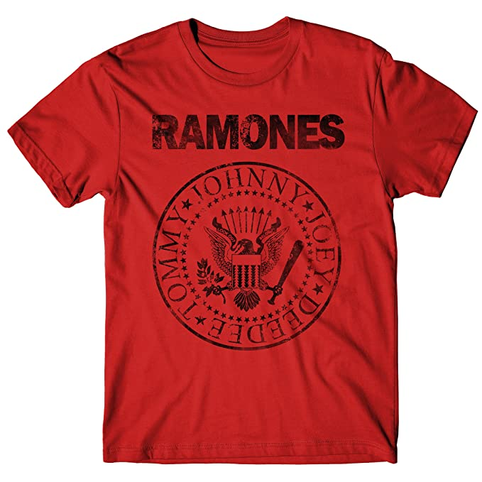 LaMAGLIERIA Camiseta Hombre Ramones Grunge Black Print - Camiseta 100% Algodòn Q7ASMZb