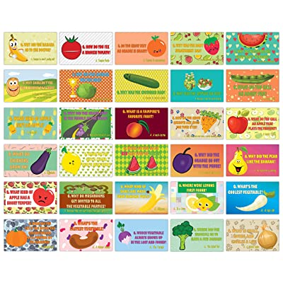 Hilarious Fruit & Veggies Lunch Box Jokes Flashcards (60-Pack) – Awesome Educational Mini Cards Set for Boys, Girls – Awesome Stocking Stuffers Gifts for Children – Cool Bulk Collection – DIY Bulk: Toys & Games