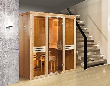 Weka Elementsauna 506 GT Gr. 3 inkl. 7,5 kW Sauna-Ofen (OS): Amazon ...