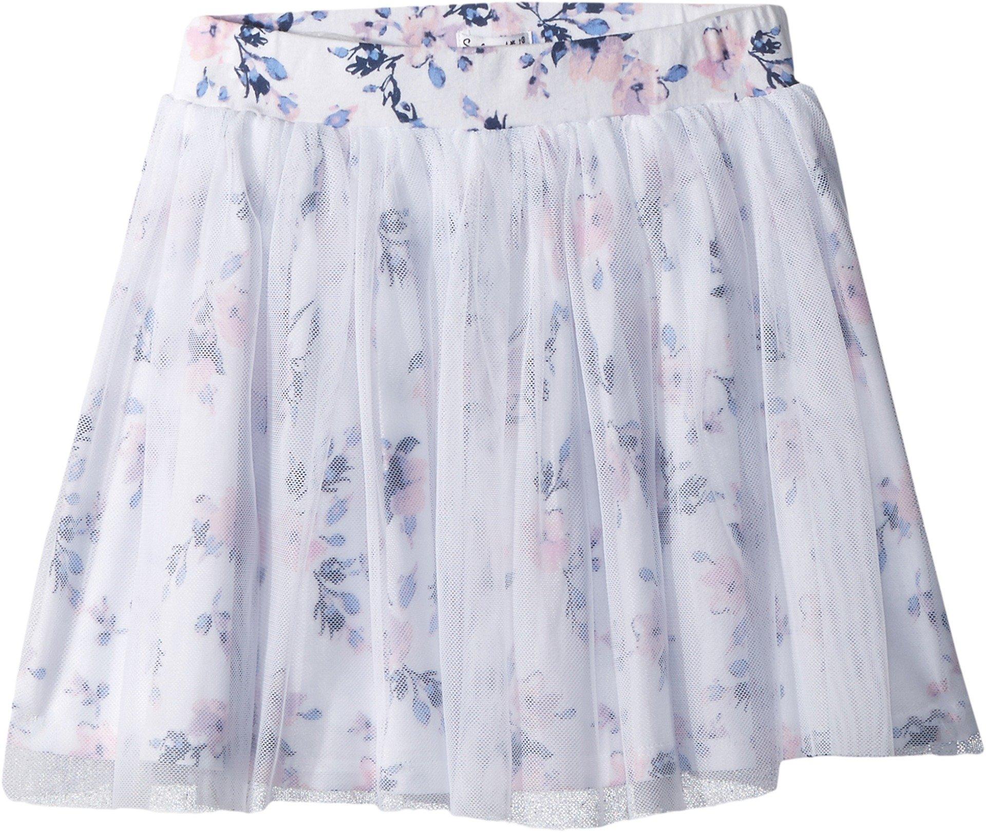 Splendid Toddler Girls' Floral Print Tutu Skirt, Optic White, 3T