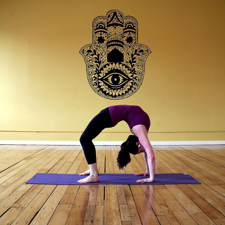 Amazon Com Wall Window Decal Sticker Hamsa Hand Yoga Hindu Namaste
