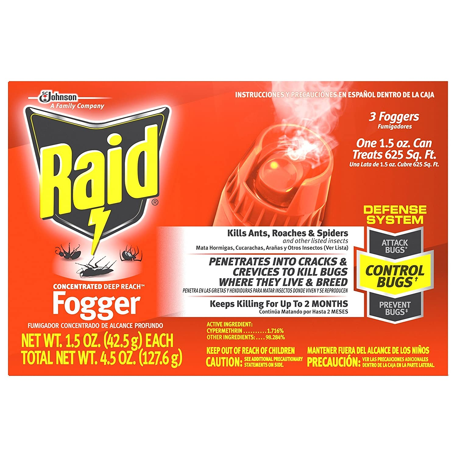 best flea fogger - Raid 81590 3-Count Concentrated Deep Reach Fogger