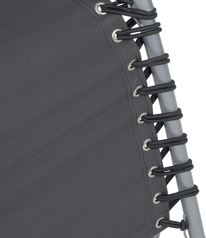 """Schienale Reclinabile grigio 65 x 112 x 90 cm ca greemotion Sedia Sdraio Relax con Poggiatesta e Poggiapiedi modello /""""Teramo/"""""""