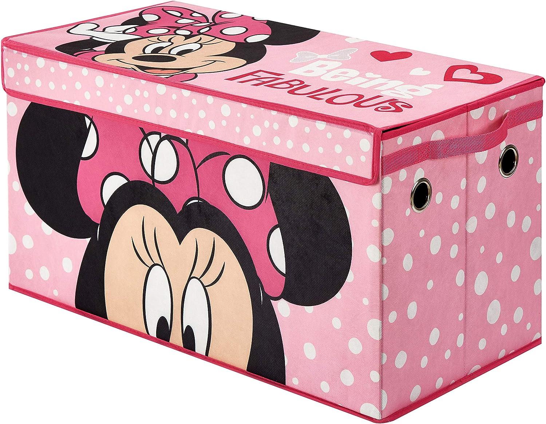Pink Disney NK320633 Minnie Collapsible Storage Trunk