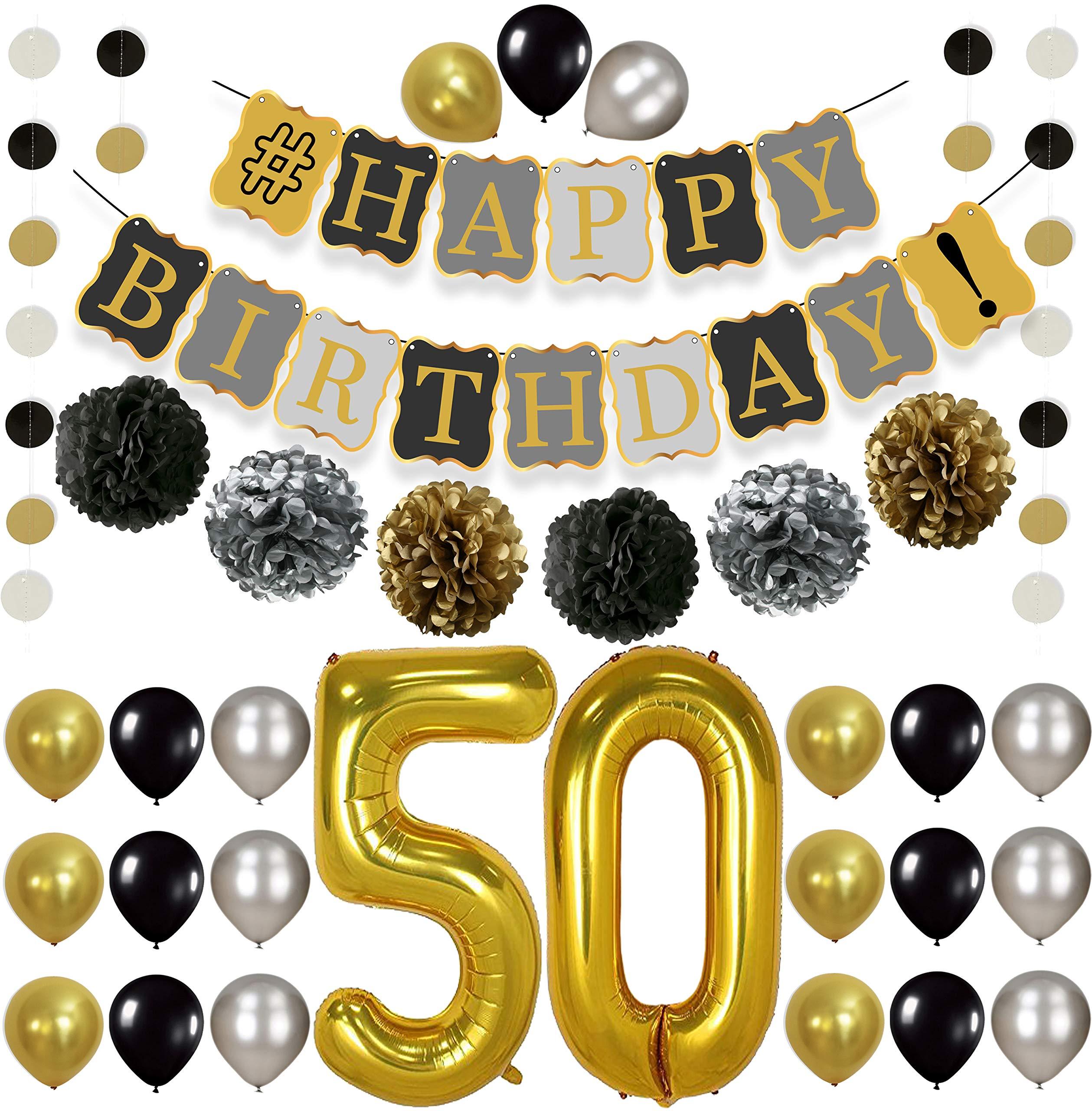 KatchOn 50th Birthday Decorations Kit