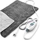 """Pure Enrichment® PureRelief™ XL (12"""" x 24"""") Electric Heating Pad for Back Pain and Cramps - 6 InstaHeat™ Settings, Machine-Wa"""