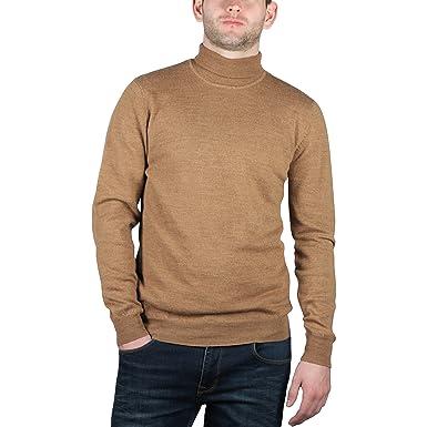 ca6b1939eae6d7 Urban Heritage Mens Turtleneck Jumper Merino Wool: Amazon.co.uk: Clothing