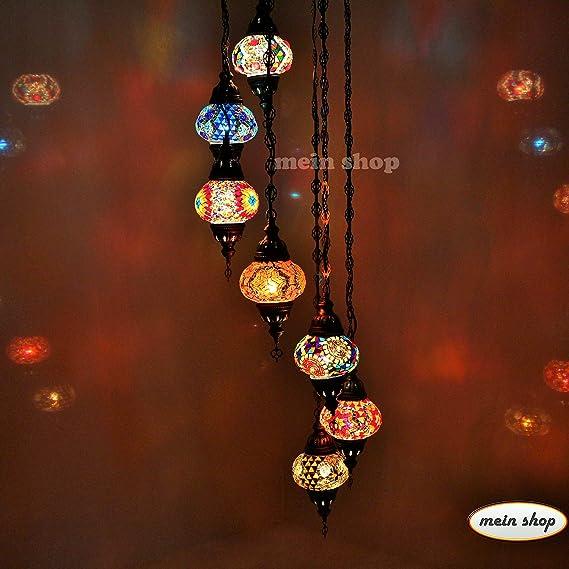 Mosaik Hangelampe Orientalische Turkische Mosaiklampe Deckenlampe 7
