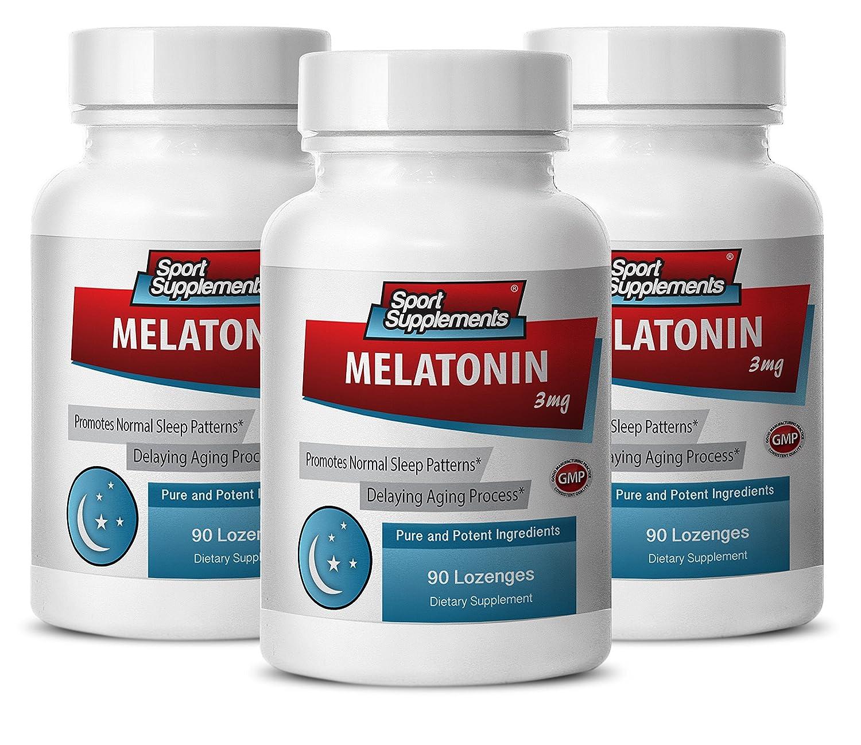 Amazon.com: Melatonin rapid release - Melatonin 3mg - Promotes general health (3 Bottles - 270 Lozenges): Health & Personal Care