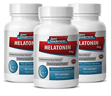Melatonin with Vitamin B6 - Melatonin 3mg - Prevents damaged cell growth (3 Bottles -