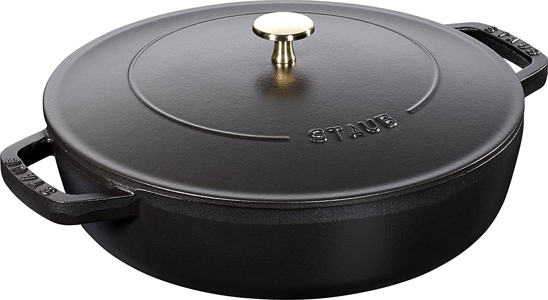 Staub 40511472/0with Chistera 28cm Cast Iron Black