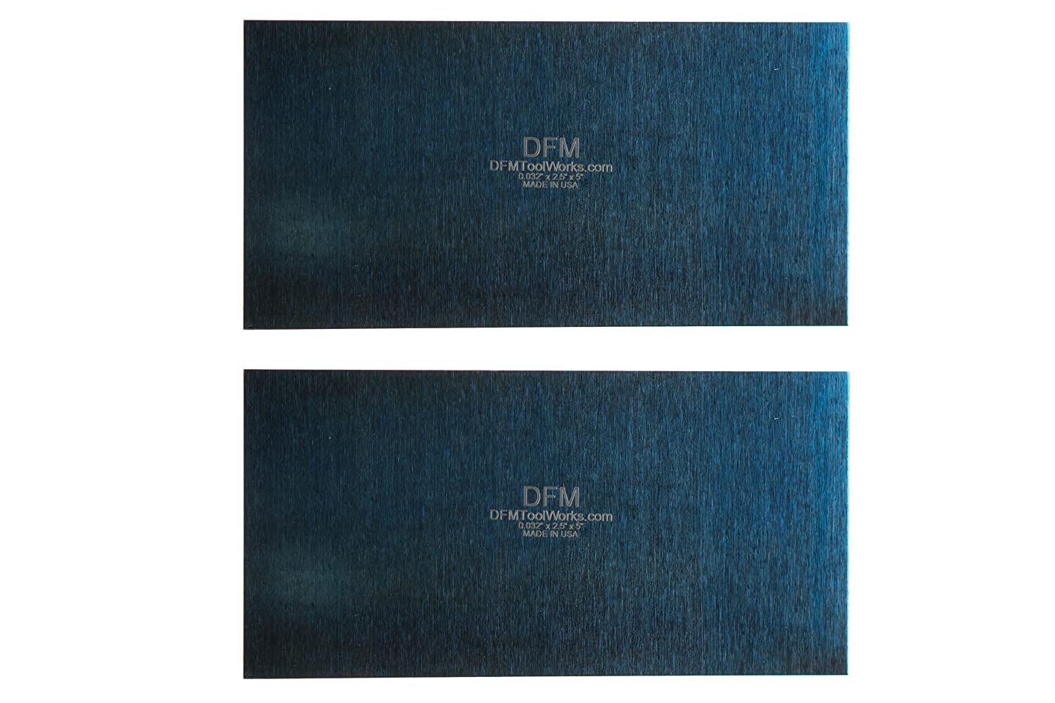 "DFM Tool Works Blue Cabinet Scraper Rectangle Sets- MADE IN USA - Multiple Sizes (2, 0.032"" x 2.5"" x 5"")"