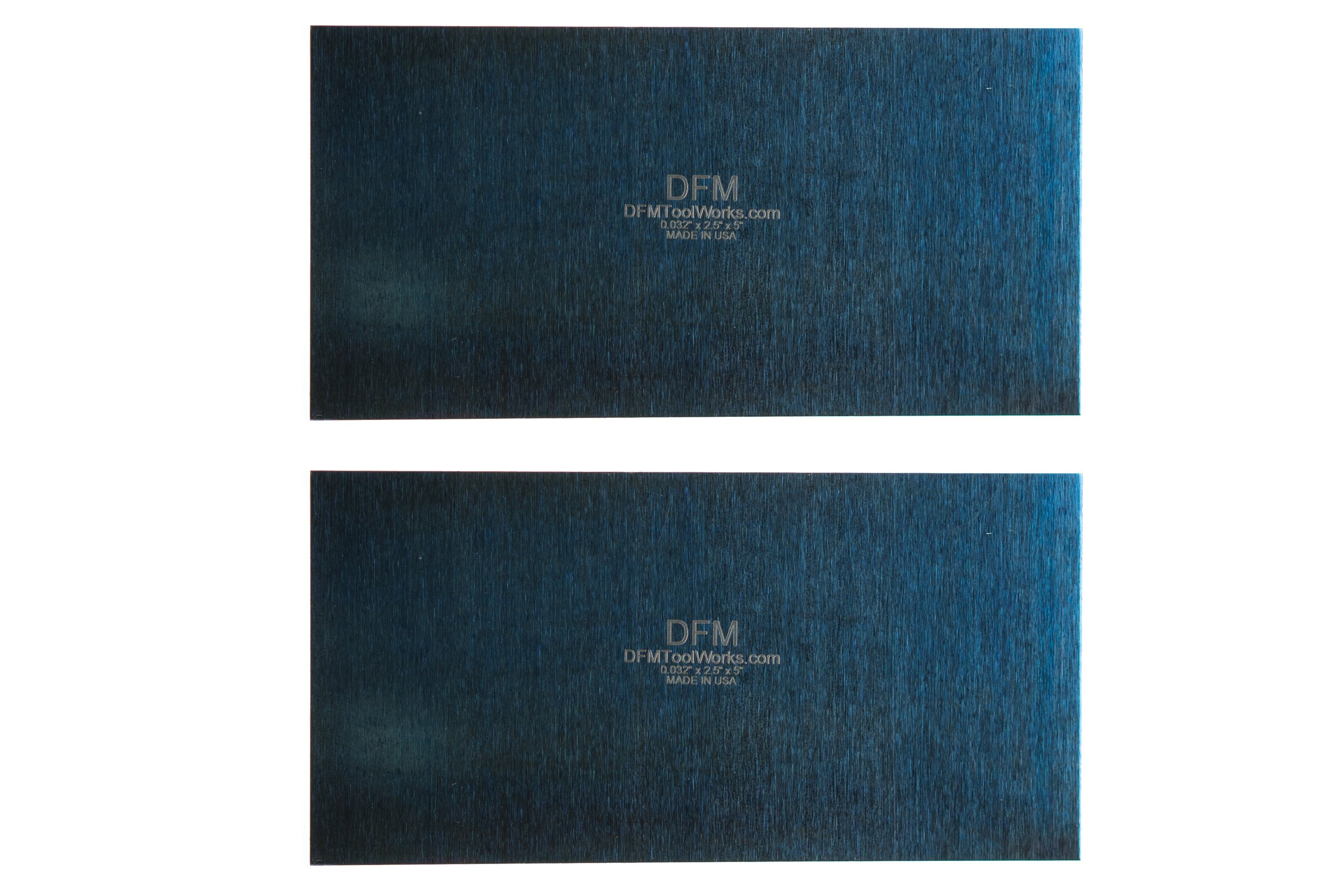 DFM Tool Works Blue Cabinet Scraper Rectangle Sets- MADE IN USA - Multiple Sizes (2, 0.032'' x 2.5'' x 5'')