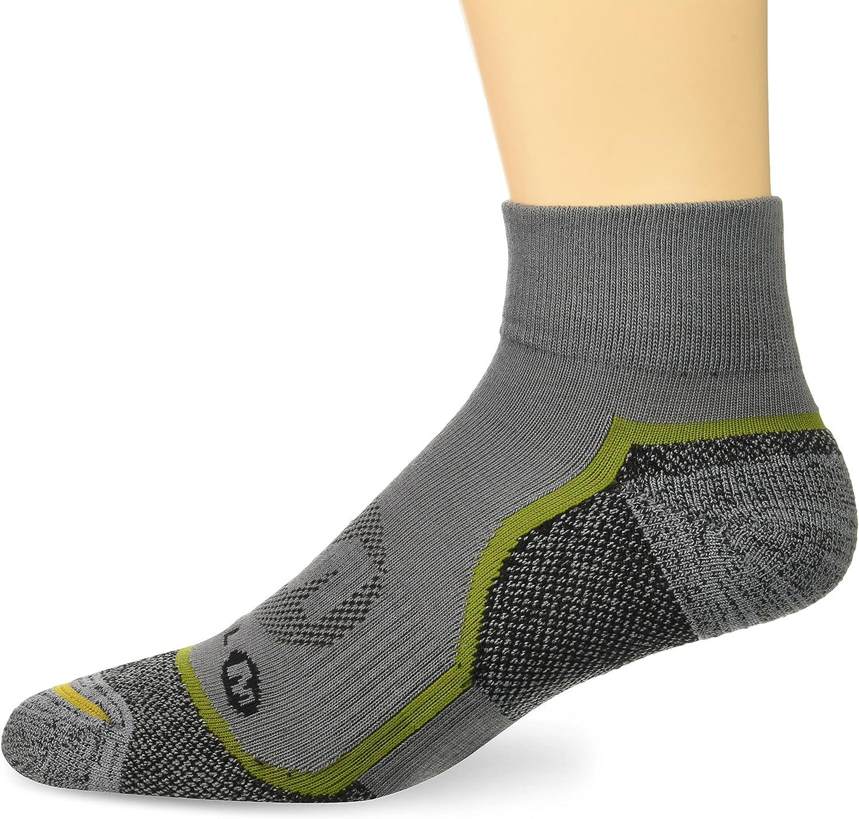 Merrell Men's 1 Pack Cushioned Trail Glove Runner Socks (Low/Quarter/Crew Cut)