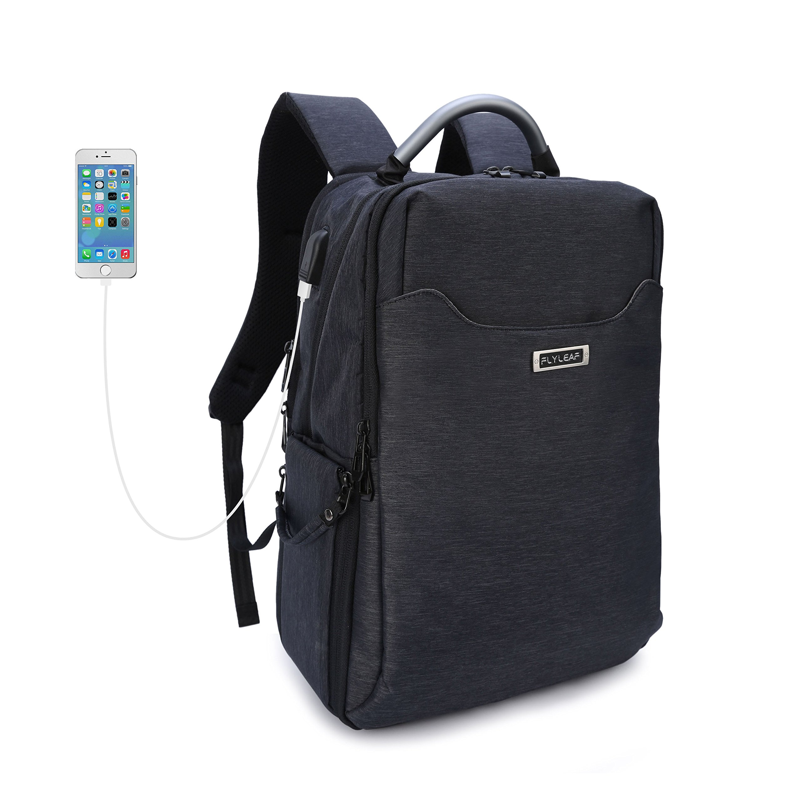 Fashion Waterproof Multifunctional Travel DSLR/SLR Camera Backpack Hiking Laptop Anti-Theft Camera Bag with USB Charging Port Compatible with Canon Nikon Sony SLR, Lenses, Tripod, 14 inch Laptop